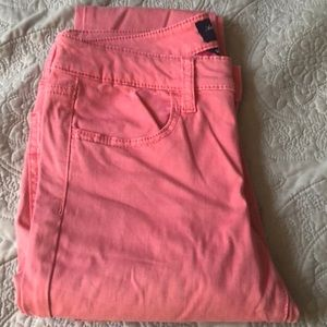 American Eagle Salmon colored pants.